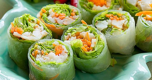 Fresh Spring Roll with Shrimp Natural Wing