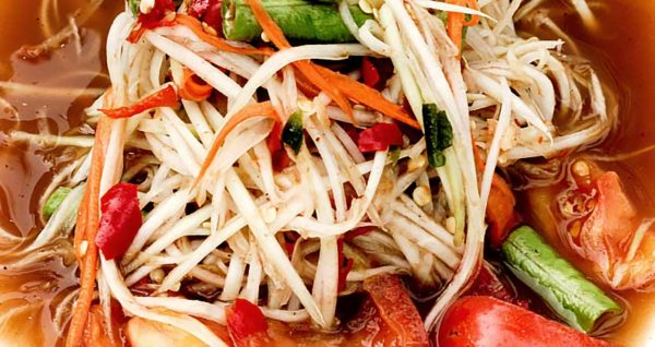 Papaya Salad with Fermented Fish Natural Wing