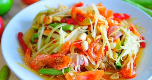 Thai Papaya Salad Natural Wing