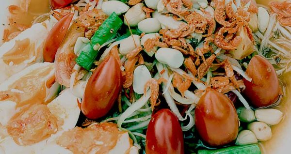 Papaya Salad with Salted egg Natural Wing