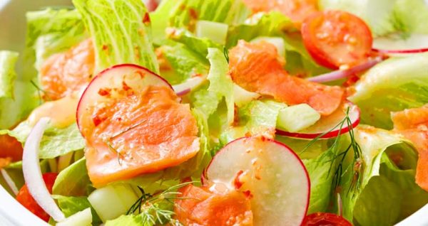 Smoked Salmon Salad Natural Wing