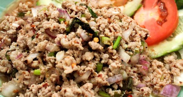 Spicy Minced Pork Salad Natural Wing
