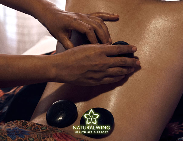 Hot Stones Thai Massage in Natural Wing Spa Resort Koh Samui
